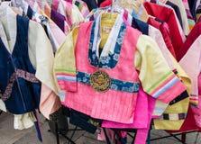 Koreanische hanbok Tradtional Kostüme lizenzfreies stockbild