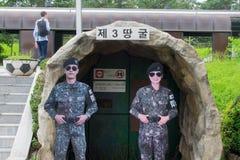 3. koreanische Infiltrationstunnelreplik Stockbild