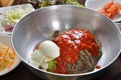 Koreanische kühle Ramen Stockfotos
