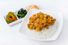 Koreanische Mahlzeit stockbild