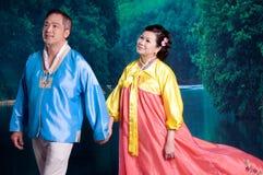 Koreanische Paare lizenzfreie stockfotos