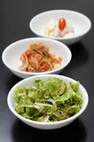 Koreanische seitliche Teller Stockfotografie