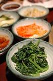 Koreanische seitliche Teller Stockbild