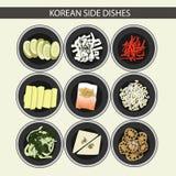 Koreanische seitliche Teller stockbilder