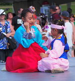 Koreanische Tänzer am Erbe-Festival Lizenzfreie Stockfotografie
