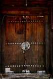 Koreanische traditionelle Tür lizenzfreie stockbilder