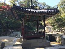 Koreanischer Gazebo lizenzfreie stockfotos