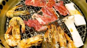 Koreanischer Grillgrill stockfotos