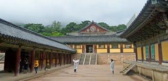Koreanischer Tempel Stockfotografie