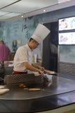 Koreanischer teppanyaki Chef lizenzfreies stockfoto