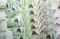 Koreanischer Won Stockfoto