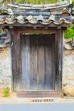 Koreanisches altes Haus-Tor Lizenzfreies Stockfoto