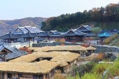 Koreanisches Architekturdetail in Seoul-Stadt Stockbild
