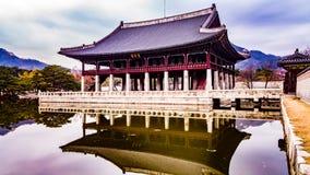 Koreanisches Königsitzung halk Stockbild