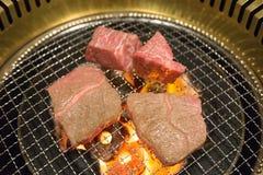 Koreanisches Lebensmittel briet Fleisch, BBQ-Grill in Korea-Art Lizenzfreie Stockbilder