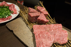 Koreanisches Lebensmittel briet Fleisch, BBQ-Grill in Korea-Art Stockfoto