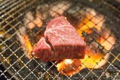 Koreanisches Lebensmittel briet Fleisch, BBQ-Grill in Korea-Art Stockfotografie