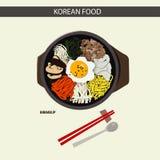 Koreanisches LEBENSMITTEL u. x28; Bibimbup& x29; lizenzfreies stockbild