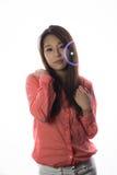 Koreanisches Modell mit Blasen lizenzfreie stockbilder