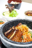 Koreanisches Nahrungsmittelset Stockfoto