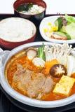Koreanisches Nahrungsmittelset Stockfotografie