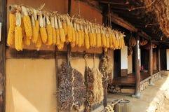 Koreanisches traditionelles Dorfhaus Lizenzfreies Stockfoto