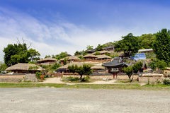 Koreanisches Volksdorf, Yangdong, Gyeongju, Südkorea Stockbilder