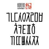 Koreansk alfabetuppsättning Arkivfoto