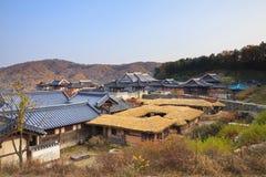 Koreansk arkitekturdetalj i den seoul staden Arkivfoto