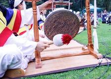 Koreansk cymbal på festivaljordning Arkivbilder