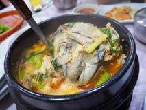 Koreansk fisksoup Arkivfoton