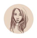 Koreansk flicka Royaltyfri Fotografi