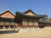 Koreansk Gazebo royaltyfria bilder