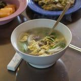 Koreansk hemlagad soppa för riskaka royaltyfri bild