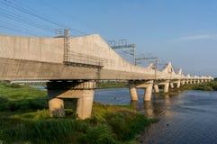 Koreansk järnvägsbro Arkivfoton