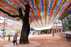 Koreansk Jogye för buddistisk tempel beställning i Seoul royaltyfria bilder