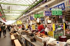 Koreansk lokal marknad Fotografering för Bildbyråer
