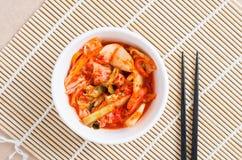 Koreansk mat för Kimchi kål i en bunke Fotografering för Bildbyråer