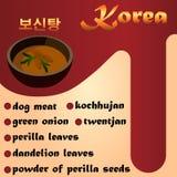 Koreansk mat, hundsoppa Arkivfoton