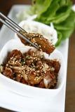 Koreansk mat med sesam Fotografering för Bildbyråer