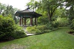 Koreansk paviljongträdgård royaltyfri fotografi