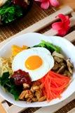 Koreansk rismaträtt för Bibimbap Royaltyfria Bilder