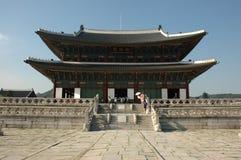 koreansk slott Arkivbild