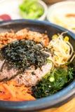 koreansk traditionell mat (Bibimbap) Royaltyfria Foton