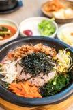 koreansk traditionell mat (Bibimbap) Royaltyfri Fotografi