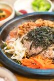 koreansk traditionell mat (Bibimbap) Royaltyfri Bild