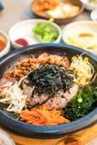 koreansk traditionell mat (Bibimbap) Arkivbild