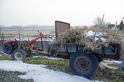 Koreansk traktor Fotografering för Bildbyråer