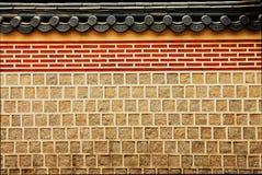 koreansk vägg arkivfoto