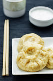 Koreanska ångapajer med kött och kål Pian se Royaltyfria Bilder